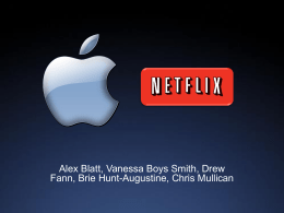 Apple & Netflix Acquisition Presentation