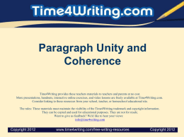 Paragraphs_UnityCoherence