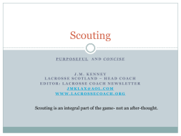 Scouting - Lacrosse Coach