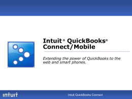 QuickBooks Mobile--Access QB Data from Phone