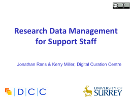 Research Data Management for librarians