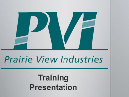 PVI Ramp Training PPT