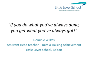 If you do what you*ve always done, you get what you*ve always got!