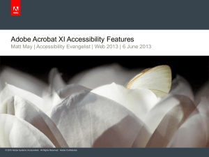 Adobe Acrobat XI - JTC 1 Special Working Group on Accessibility