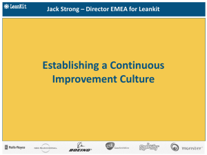 Leankit Continuous Improvement Culture