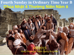 Fourth Sunday in Ordinary Time Year B Chúa Nhật 4