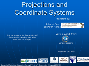 Projections and Coordinate Systems - Virginia Geospatial Extension