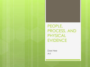 people, process, and physical evidence