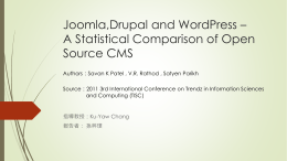 a statistical comparison of open source CMS