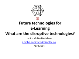 Future of e-learning & disruptive technologies