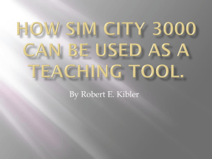 How Sim City 3000 can be used as a Teaching