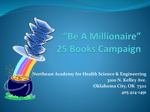 *Be A Millionaire* 25 Book Campaign
