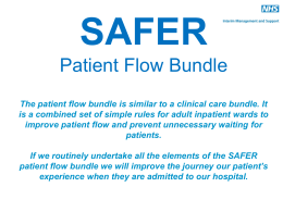 SAFER patient flow bundle here