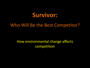 Survivor: Who Will Be the Best Competitor?