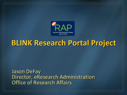 Blink Research Portal Project