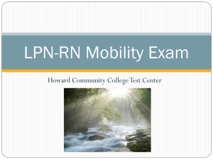 LPN-RN Mobility Exam - Howard Community College
