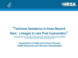 E23 Technical Assistance to Those Beyond Bars
