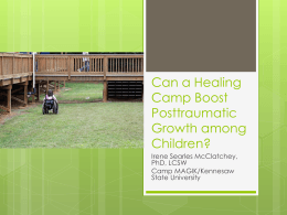 Can a Healing Camp Boost Posttraumatic Growth among Children?