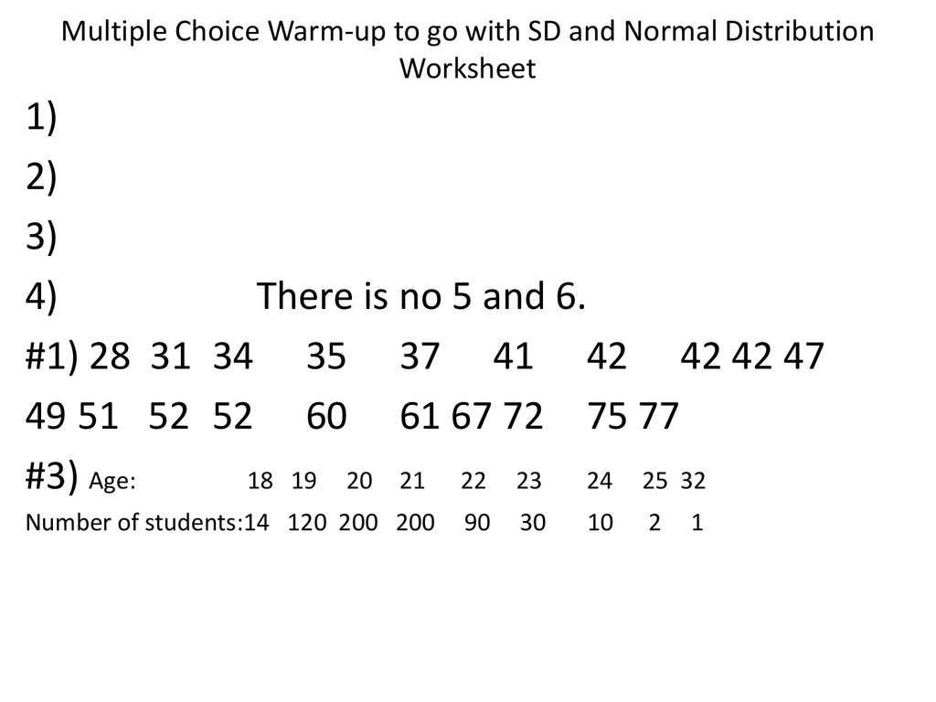 Worksheets Normal Distribution Worksheet sd and normal distribution worksheet