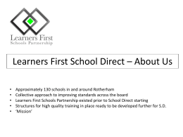 Learners First School Direct - Suzanne Bywater