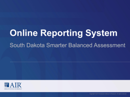 Tips for Using This Template - South Dakota Smarter Balanced