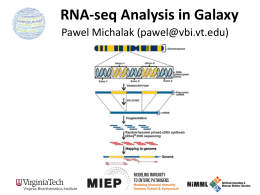 RNA-seq Analysis in Galaxy