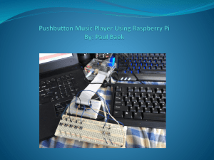 Pushbutton Controlled Music Player Using Raspberry Pi