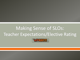 Teacher Expectations/Elective Rating