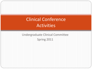 Clinical Conference Power Point
