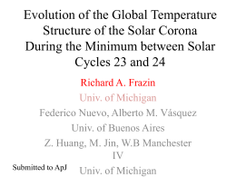 Evolution of the global temperature structure of the corona