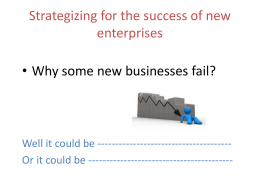 Strategizing for Enterprise Success