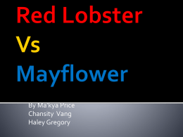 Red Lobster Vs. Mayflower Sea Food Resturant