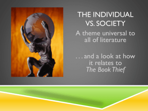 The Individual vs society