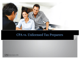 CPA vs Unlicensed Tax Practitioners Presentation
