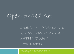 Using Process Art with Young Children - MnAEYC