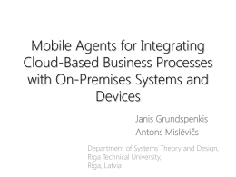 Mobile Agents for Integrating Cloud