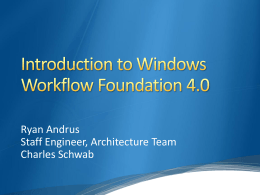Introduction to Windows Workflow Foundation 4.0