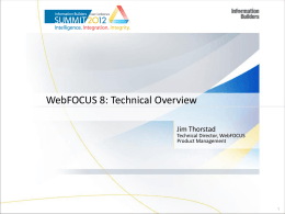 WebFOCUS 8 Repository - Information Builders