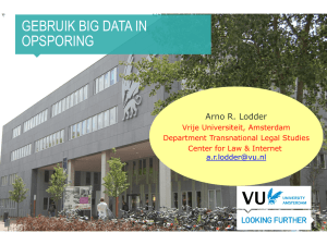 Gebruik Big Data in opsporing