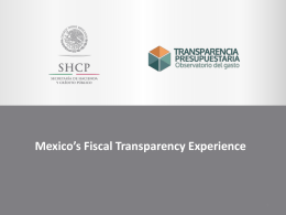 Mexico-Presentation - Global Initiative for Fiscal Transparency
