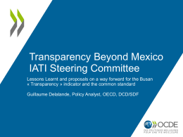 Transparency Beyond Mexico – OECD