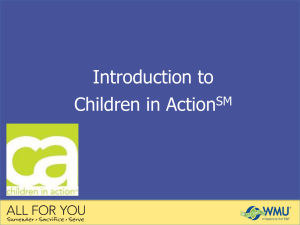 All For You Children in Action PowerPoint presentation