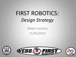 FIRST ROBOTICS Design Strategy