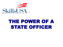 the power of a state officer