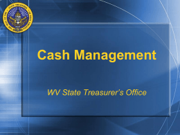 Cash Management and Internal Controls