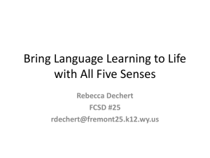 Bring Language Learning to Life with All Five Senses
