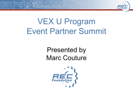 VEX U - Robotics Education & Competition Foundation