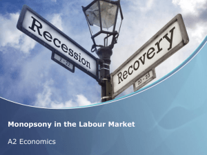 Monopsony in the Labour Market