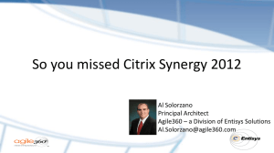 See the Presentation - Entisys Solutions, Inc.