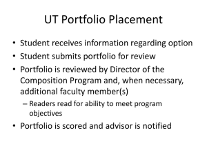 UT Portfolio Placement